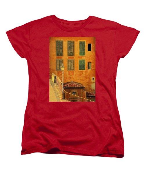 Medieval Windows Women's T-Shirt (Standard Cut) by Caroline Stella