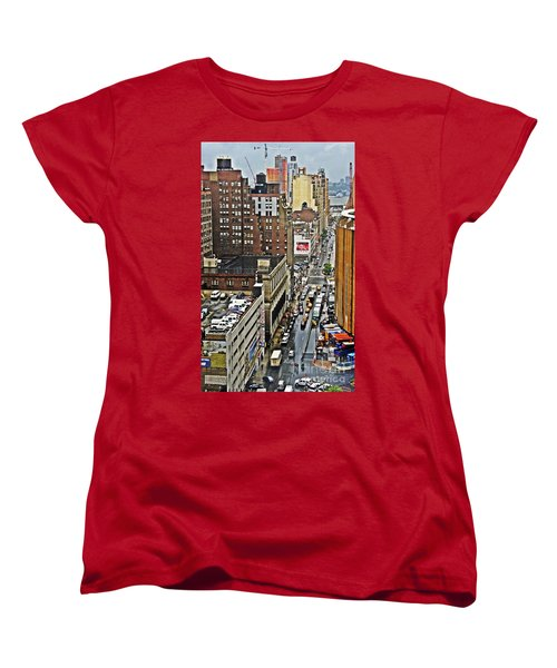 Women's T-Shirt (Standard Cut) featuring the photograph Park N Lock by Lilliana Mendez