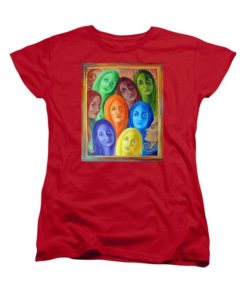 Serene Sisters Women's T-Shirt (Standard Cut) by Sylvia Kula