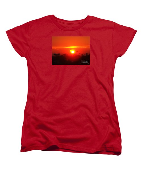 Women's T-Shirt (Standard Cut) featuring the photograph Sunset by Jasna Dragun