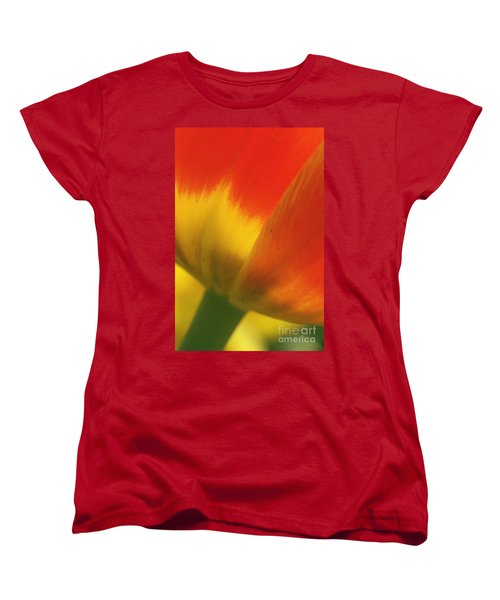 Women's T-Shirt (Standard Cut) featuring the photograph Tulip Close Up 2 by Rudi Prott