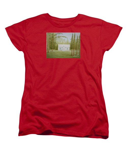 Women's T-Shirt (Standard Cut) featuring the painting A North Carolina Church by Stacy C Bottoms