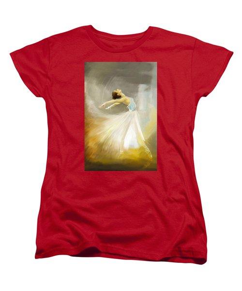 Ballerina  Women's T-Shirt (Standard Cut) by Corporate Art Task Force