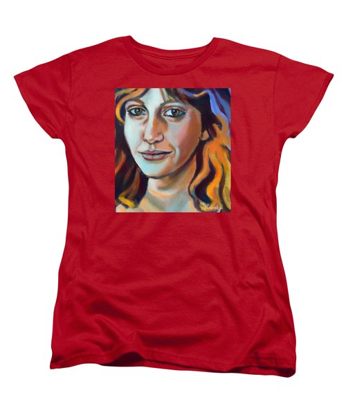 Women's T-Shirt (Standard Cut) featuring the painting Self Portrait  by Helena Wierzbicki