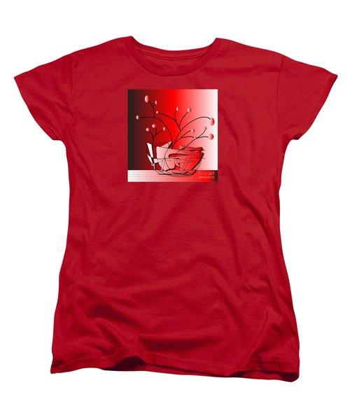 Women's T-Shirt (Standard Cut) featuring the drawing Simplicity by Iris Gelbart