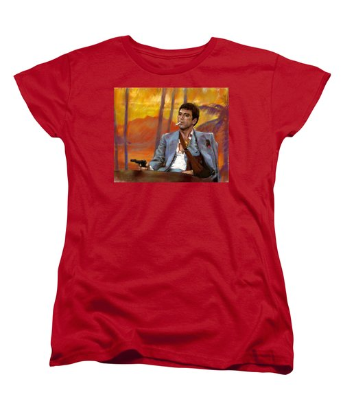 Scarface Women's T-Shirt (Standard Cut) by Viola El