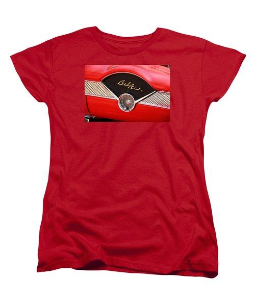 Vintage Car Women's T-Shirt (Standard Cut) featuring the photograph '56 Bel Air by Aaron Berg