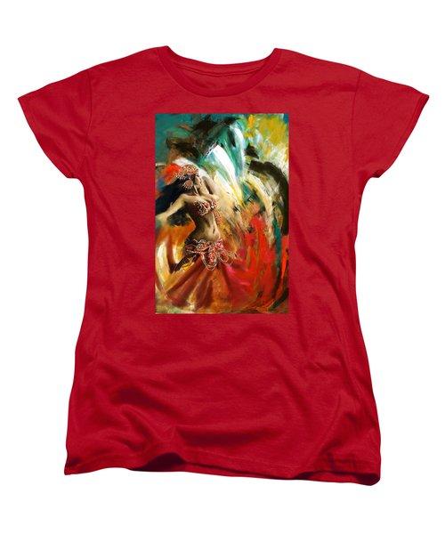 Abstract Belly Dancer 19 Women's T-Shirt (Standard Cut) by Corporate Art Task Force