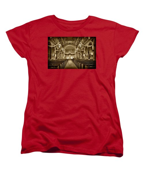 Holy Cross Catholic Church Women's T-Shirt (Standard Cut) by Amanda Stadther