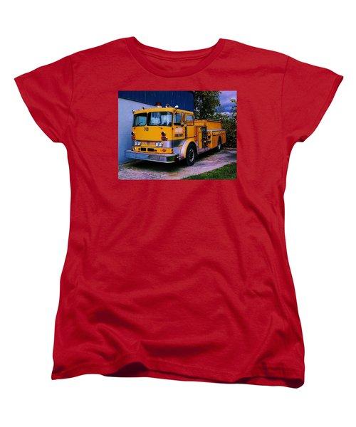 710 ....... Fire Dept. Women's T-Shirt (Standard Cut) by Daniel Thompson