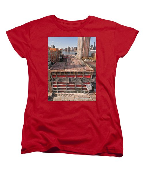 9th Floor Forms Women's T-Shirt (Standard Cut) by Steve Sahm
