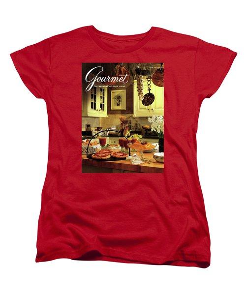 A Buffet Brunch Party Women's T-Shirt (Standard Cut) by Romulo Yanes