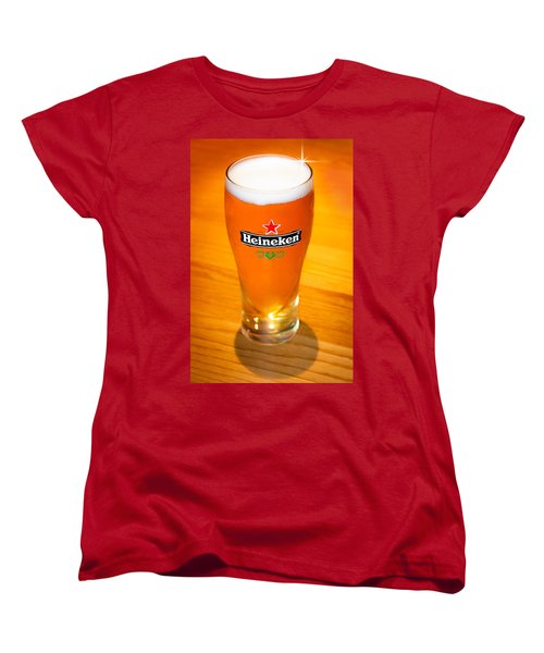 A Cold Refreshing Pint Of Heineken Lager Women's T-Shirt (Standard Cut) by Semmick Photo