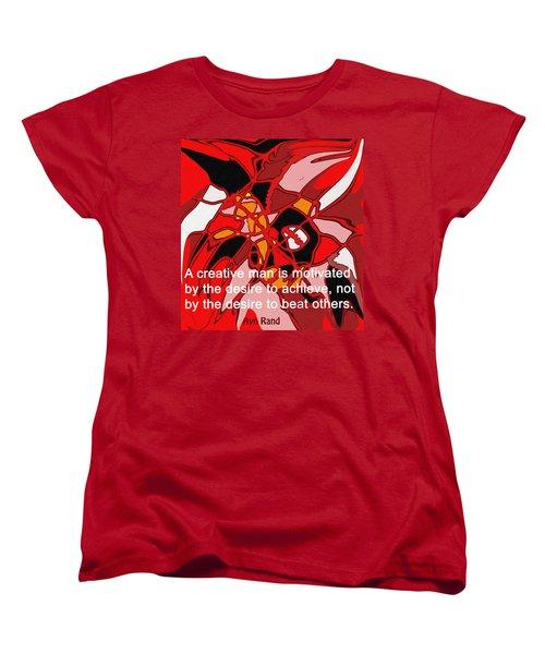 A Creative Man Women's T-Shirt (Standard Cut) by Ian  MacDonald