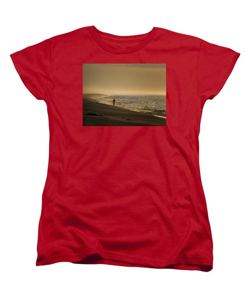 Women's T-Shirt (Standard Cut) featuring the photograph A Fisherman's Morning by GJ Blackman