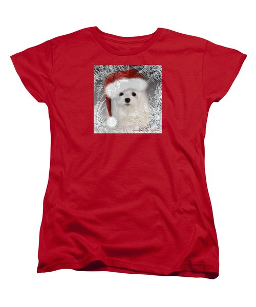 Women's T-Shirt (Standard Cut) featuring the mixed media A Frosty Morning by Morag Bates