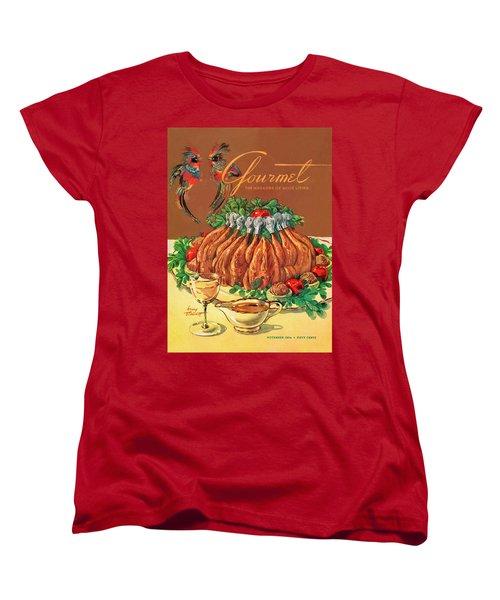 A Gourmet Cover Of Chicken Women's T-Shirt (Standard Cut) by Henry Stahlhut