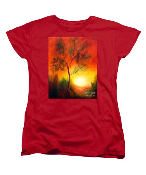 Women's T-Shirt (Standard Cut) featuring the painting A New Day by Alison Caltrider