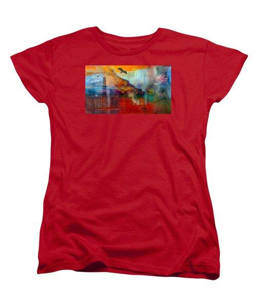 A Piece Of America Women's T-Shirt (Standard Cut) by Randi Grace Nilsberg