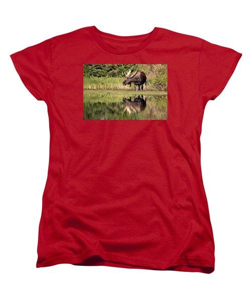 A Reflective Mood Women's T-Shirt (Standard Cut) by Jack Bell