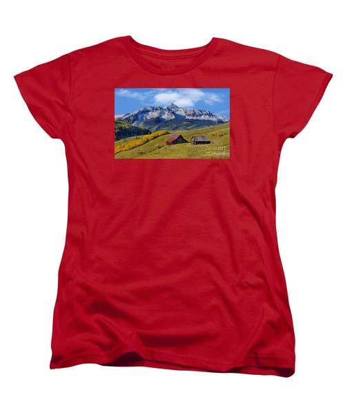 A View From Last Dollar Road Women's T-Shirt (Standard Cut) by Jerry Fornarotto