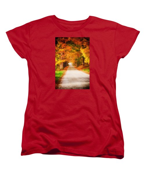 A Walk Along The Golden Path Women's T-Shirt (Standard Cut) by Jeff Folger