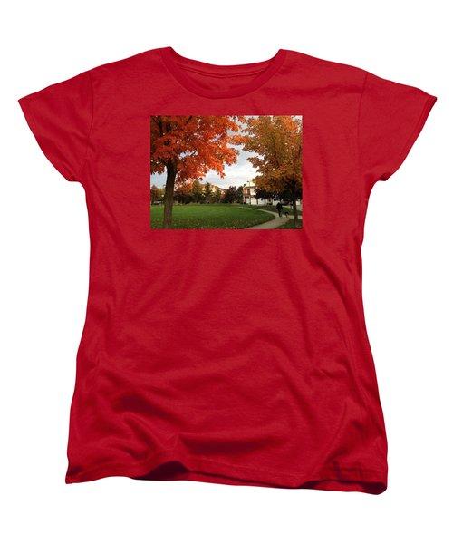 A Walk In The Park Women's T-Shirt (Standard Cut) by Pema Hou