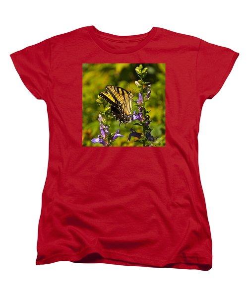 A Warm September Day In The Garden Women's T-Shirt (Standard Cut) by Byron Varvarigos