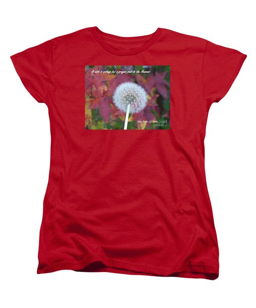 Women's T-Shirt (Standard Cut) featuring the photograph A Wish For You by Robin Coaker