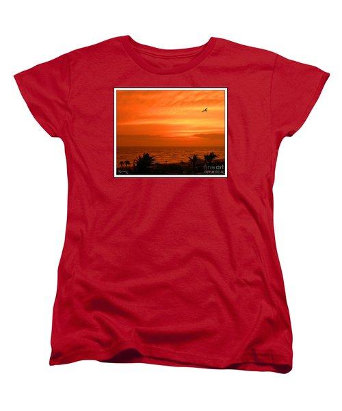 Women's T-Shirt (Standard Cut) featuring the photograph Ablaze by Mariarosa Rockefeller