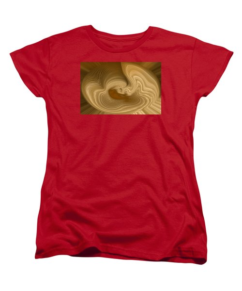 Women's T-Shirt (Standard Cut) featuring the photograph Abstract Design by Charles Beeler