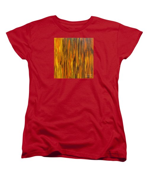 Abstract Fireside Women's T-Shirt (Standard Cut) by Susan  Dimitrakopoulos