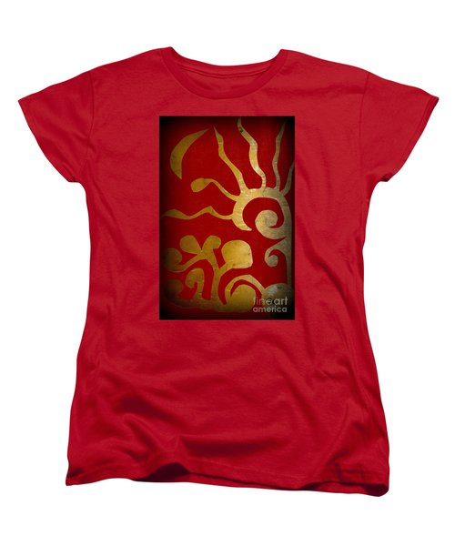Abstract Gold Collage Women's T-Shirt (Standard Cut)