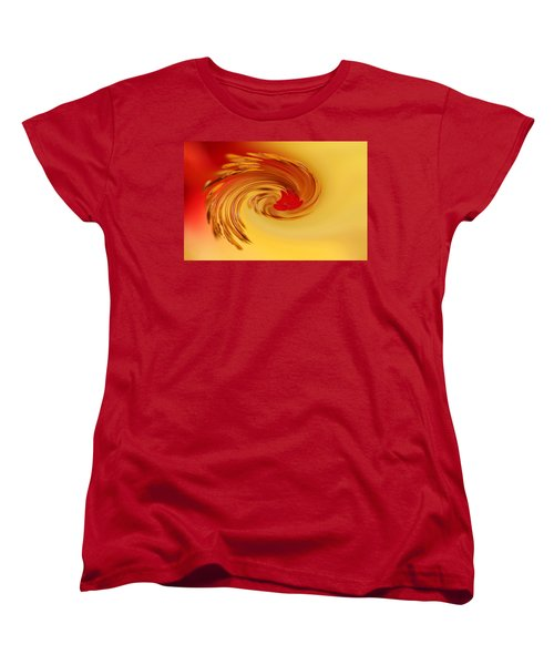Women's T-Shirt (Standard Cut) featuring the photograph Abstract Swirl Hibiscus Flower by Debbie Oppermann
