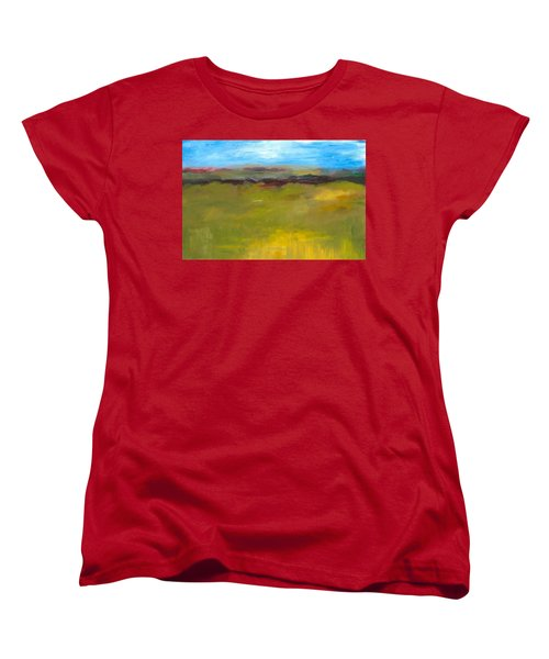 Abstract Landscape - The Highway Series Women's T-Shirt (Standard Cut) by Michelle Calkins