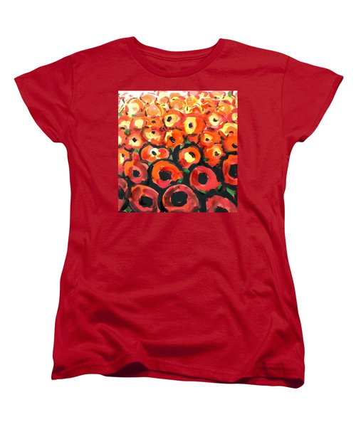 Abstract Poppies Women's T-Shirt (Standard Cut) by Hae Kim