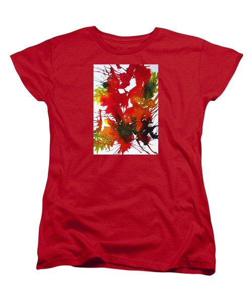 Abstract - Riot Of Fall Color II - Autumn Women's T-Shirt (Standard Cut) by Ellen Levinson
