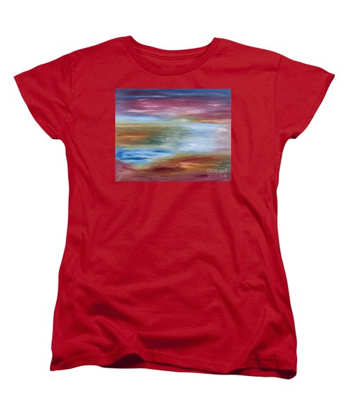 Abstract Seascape Women's T-Shirt (Standard Cut) by Lana Enderle