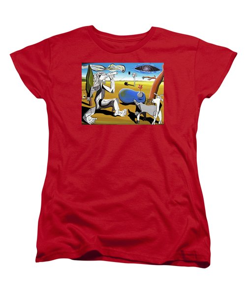 Women's T-Shirt (Standard Cut) featuring the painting Abstract Surrealism by Ryan Demaree