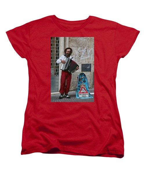 Accordian Player Women's T-Shirt (Standard Cut) by Hugh Smith