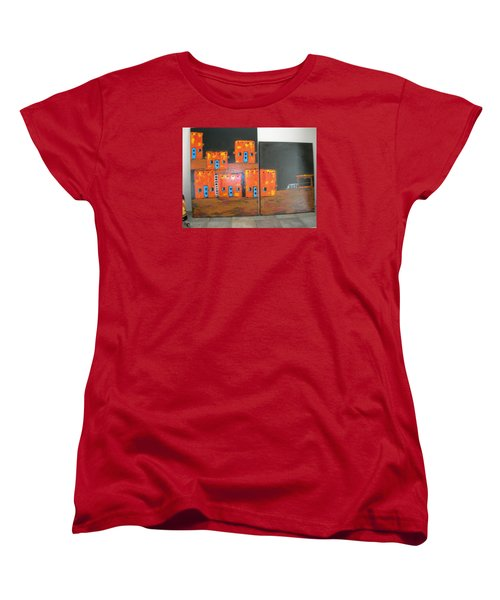 Women's T-Shirt (Standard Cut) featuring the painting Adobes by Sharyn Winters