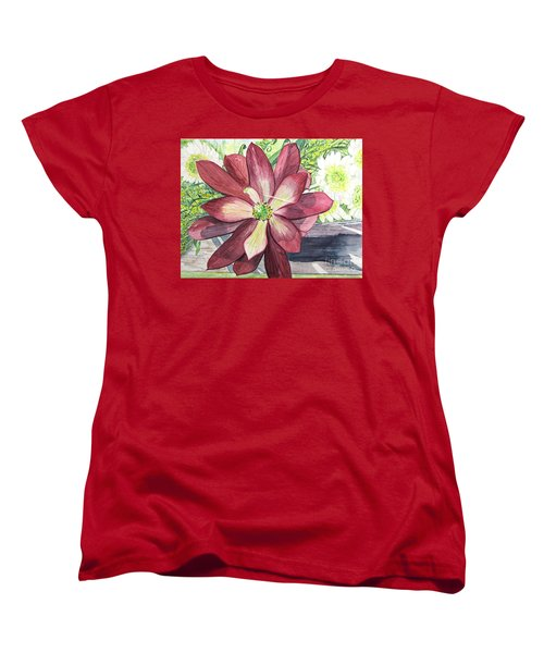 Women's T-Shirt (Standard Cut) featuring the painting African Flower by Carol Flagg