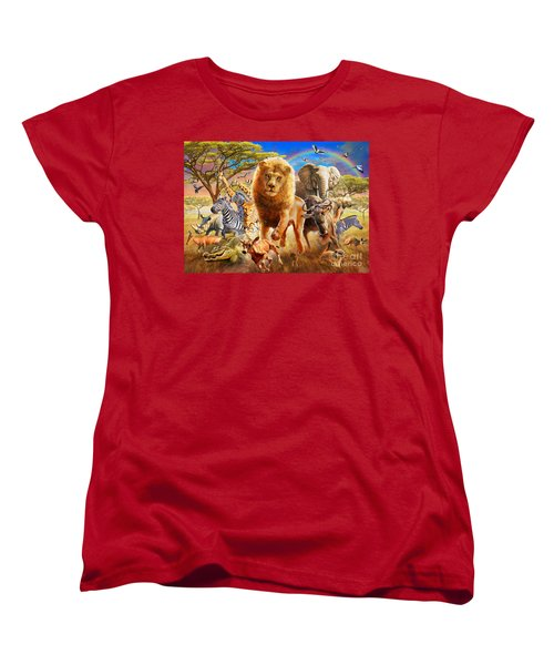 African Stampede Women's T-Shirt (Standard Cut) by Adrian Chesterman