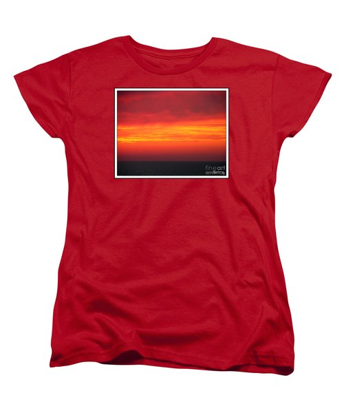 Women's T-Shirt (Standard Cut) featuring the photograph Afterglow by Mariarosa Rockefeller