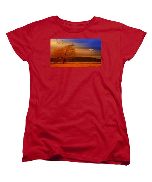 Against The Wind Women's T-Shirt (Standard Cut) by Holly Kempe