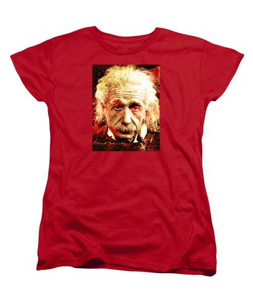 Albert Einstein  Women's T-Shirt (Standard Cut) by J- J- Espinoza