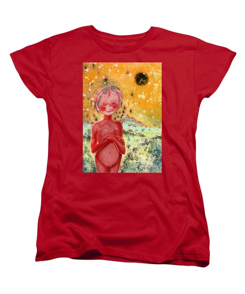 Women's T-Shirt (Standard Cut) featuring the painting Alien by Carol Jacobs