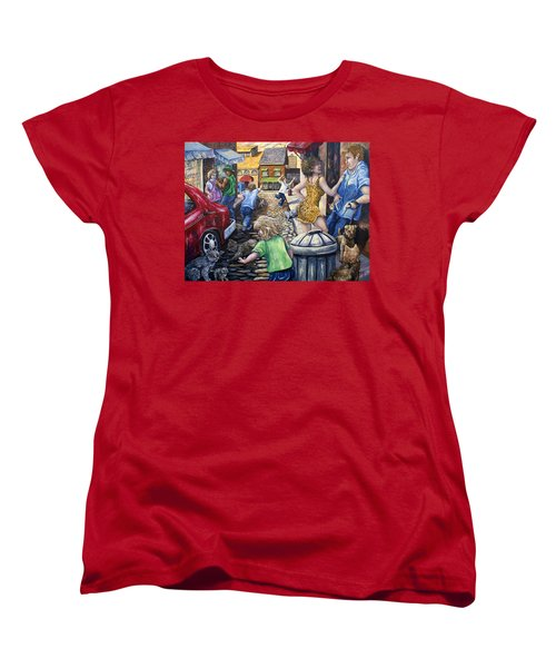 Alley Catz Women's T-Shirt (Standard Cut) by Gail Butler