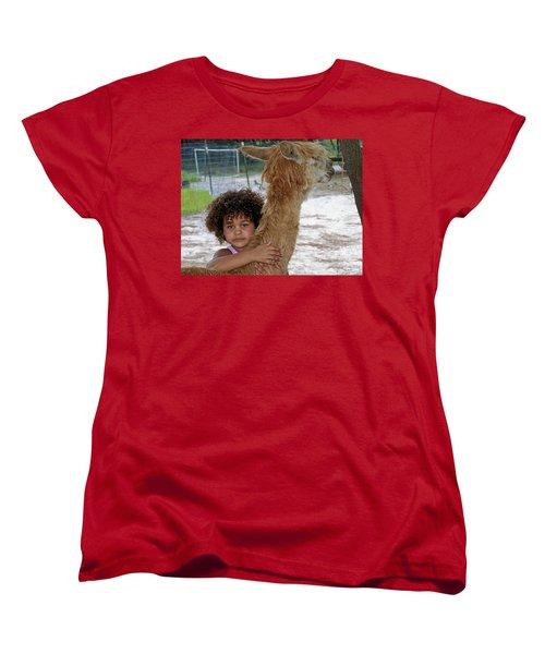 Alpaca Love Women's T-Shirt (Standard Cut) by Judy Wanamaker