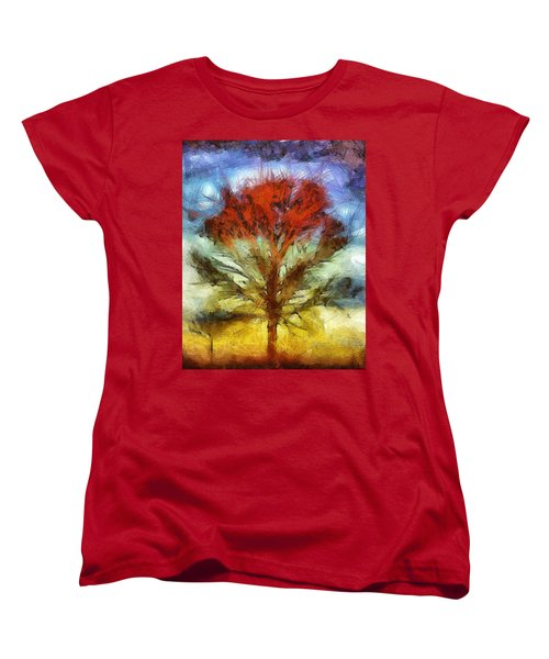 Women's T-Shirt (Standard Cut) featuring the drawing Always Reaching Up by Joe Misrasi